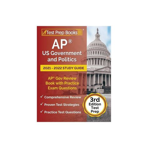 AP US Government and Politics 2021 - 2022 Study Guide - by Joshua Rueda (Paperback)