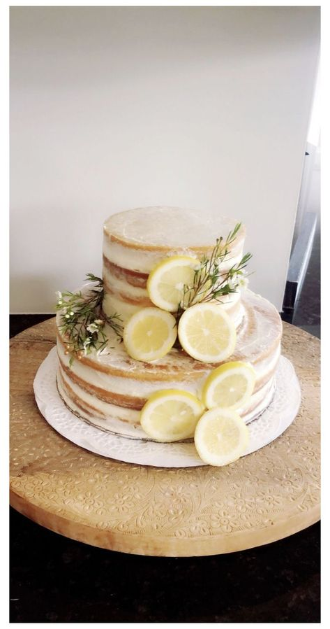 Bridal Shower Cake Sayings, Bridal Shower Cakes Rustic, Simple Bridal Shower, White Bridal Shower, Mermaid Bridal Showers, Blush Bridal Showers, Lemon Wedding Cakes, Lemon Party, Baby Shower