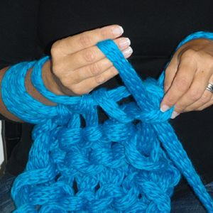 Hand crochet, for that chunky bedspread you want to make.