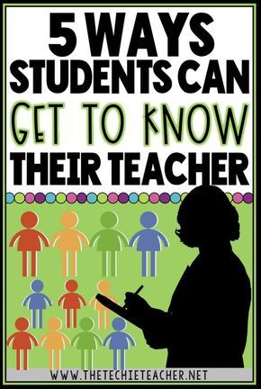 5 Ways Your Students Can Get to Know Y-O-U | School