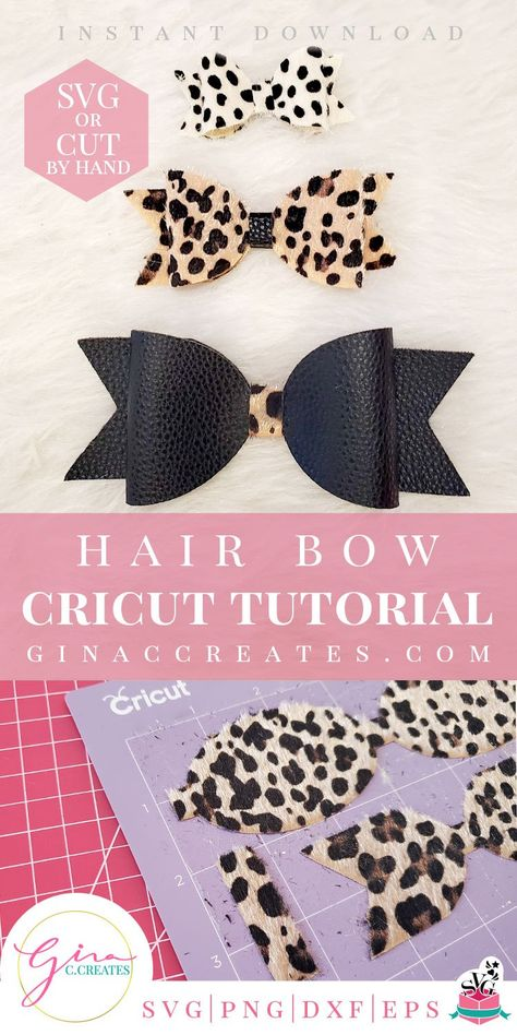 how to make a hair bow with cricut free svg included How to make Faux Leather Hair Bows with Cricut Machine (Note: This post may contain affiliate links. I make a small commission on any purchase you make, with no extra cost to you)! Diy Leather Bows, How To Make Leather, How To Make Hair, How To Make Bows, Leather Totes, Leather Handbags, Making Hair Bows, Diy Hair Bows, Diy Bow