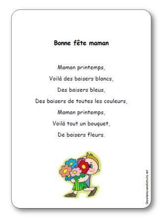 Comptine Bonne Fete Maman Maman Printemps Bon Fete Maman Carte