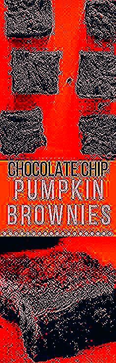 4 ingredient pumpkin brownies that are delicious and fudgy!  All you need is a box of brownie mix pumpkin purée pumpkin pie spice and chocolate chips! Theyre absolutely perfect for a quick Halloween treat. These easy pumpkin brownies are the ultimate fall dessert.  #pumpkin #brownies #chocolatebrownies #easyrecipe #brooklynfarmgirl
