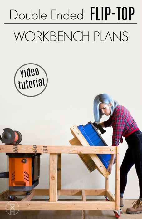 Double Ended Flip Top Workbench Plans Video Tutorial Workbench Diy Tool Tips Learn More About The Excellent Workbench Plans Workbench Folding Workbench