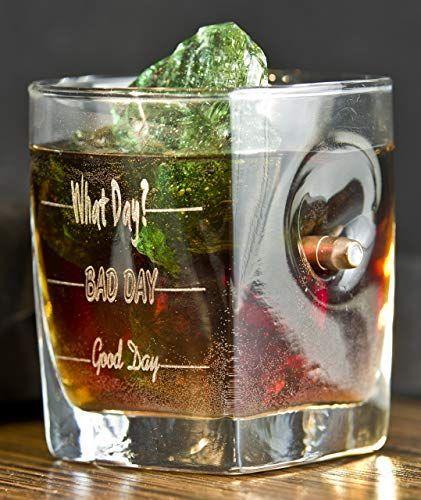 KolbergGlas Whiskey Glas mit realem Geschoß cal.308 und Gravur ...