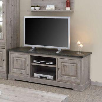 Meuble Tv Moderne Couleur Bois Et Ardoise Cali 2 Meuble Tv Moderne Meuble Tv Meuble Tv Design