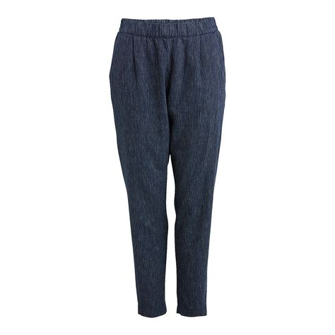 blå byxor dam