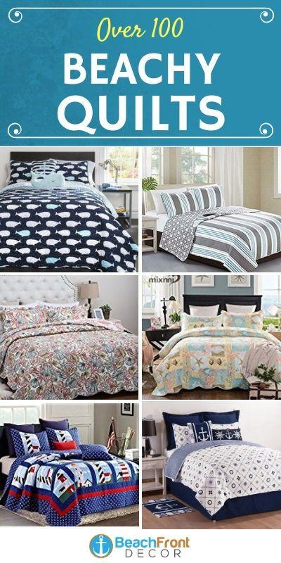 Nautical And Beach Quilt Sets Beachfront Decor Nautical Bedding Sets Blue Bedding Sets Bed Comforter Sets