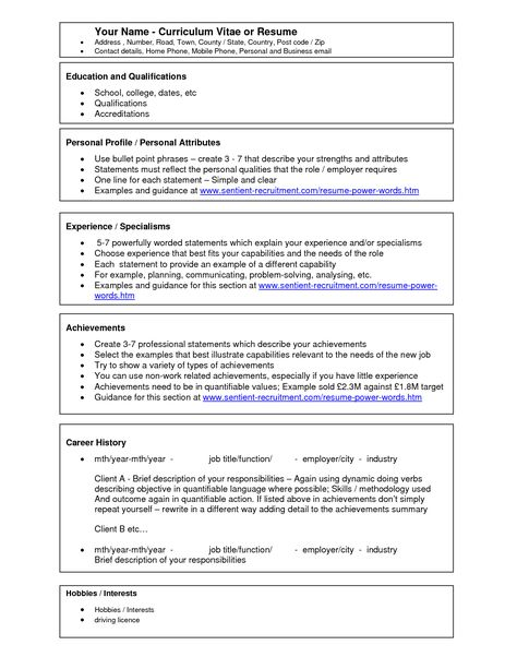 Word Templates Free Downloads Resume Templates Microsoft Word - hobbies and interests on a resume