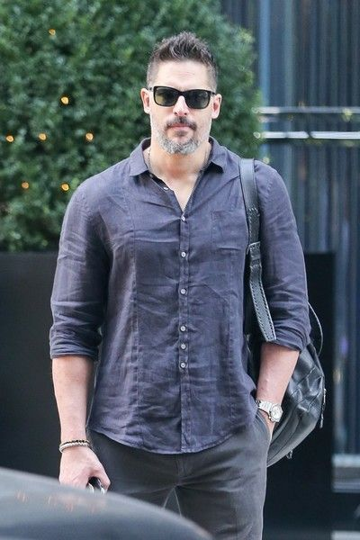 Joe Manganiello is seen waiting for his ride outside his hotel in New York City.