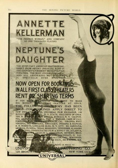 Neptune/'s daughter Annette Kellermann 1914 poster