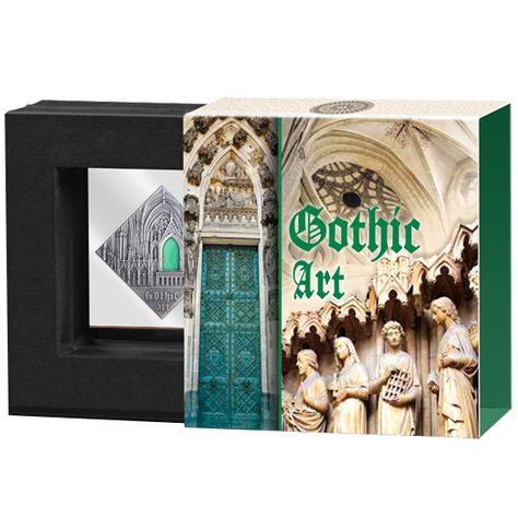 Sztuka gotycka, 1 dolar, Seria: Sztuka, która zmieniła świat (Srebrna Moneta) - Mennica Polska - Mennica Polska