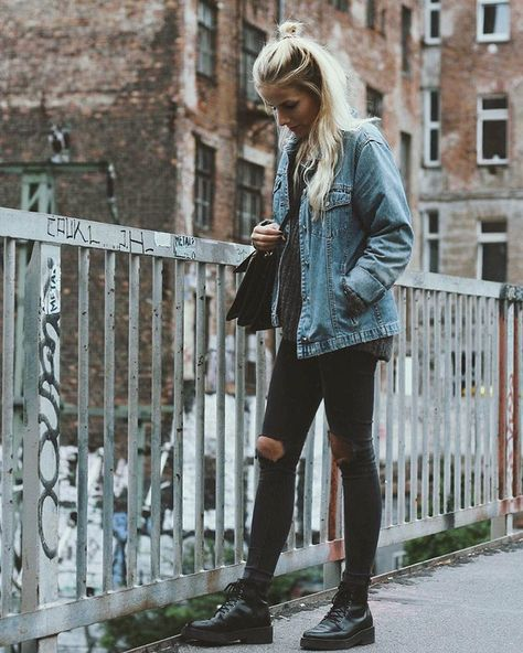 7f3aa6e50c3 List of Pinterest martens doc outfit casual jean jackets pictures ...