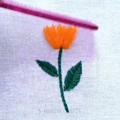 Pre-Printed Cloth Embroidery Kit Flower Stumpwork Crafts for Beginner Adults