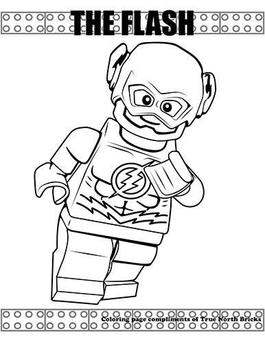 Coloring Page The Flash Lego Coloring Pages Lego Coloring