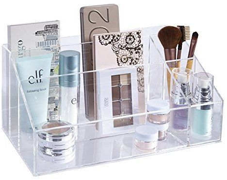 Amazon Com Stori Premium Quality Clear Plastic Makeup Palette And Brush Holder Home Kitchen Acrylic Organizer Makeup Makeup Organization Makeup Palette