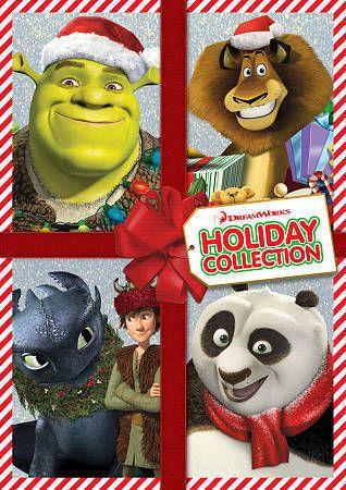 Dreamworks Holiday Collection Dvd Shrek Kung Fu Panda Madagascar Dragon Ebay Dreamworks Shrek Holiday Collection