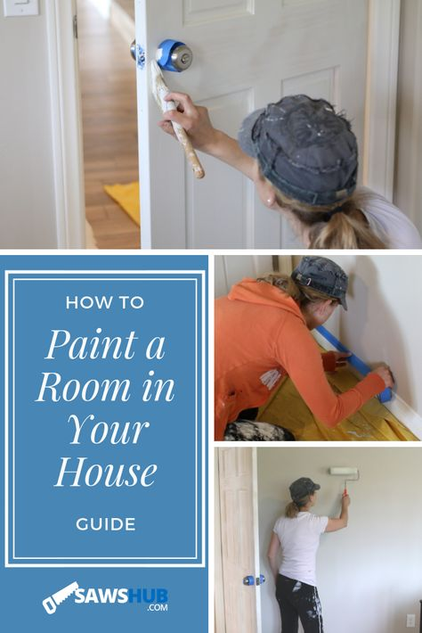 Learn how to paint your house the right way for a professional finish, look, and feel. Save money with DIY painting throughout your house with this guide. #sawshub #paint #painting #DIY #howto #guide #home #house #project