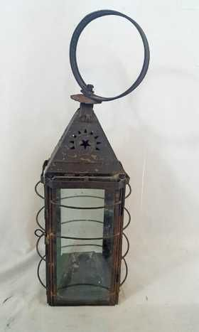 Early Tin And Wire Punched Star Candle Lantern Ca 1860 Outdoor Candle Lanterns Lantern Candle Decor Candle Lanterns