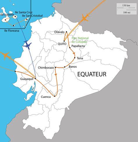 Carte Du Voyage Equateur Et Galapagos Guayaquil Ecuador