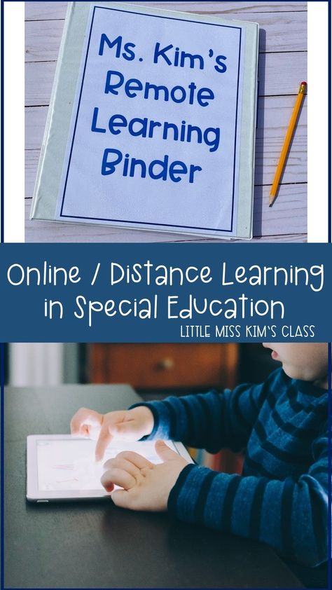 Tips and Ideas for Online / Remote / Distance Learning in Special Education Classrooms Special Education Schedule, Preschool Special Education, Special Education Inclusion, Physical Education, Classroom Schedule, Preschool Schedule, School Classroom, Classroom Ideas, School Psychology