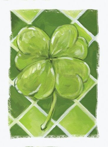 Lucky Clover In 2021 Clover Painting Saint Patricks Day Art Green Paintings