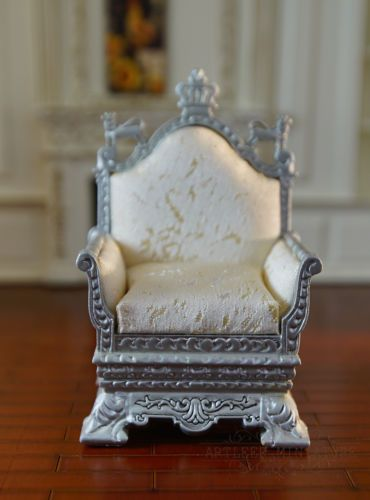 Dollhouse Chair 1//12 scale Champagne Elegant Well Made High Quality Handmade