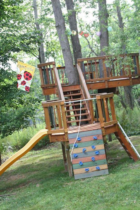 40+ Beautiful Backyard Playground Ideas For Kids   Tree ...