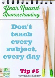 Over Planned Year Round Homeschool Days