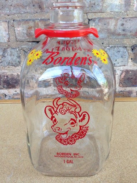 Details About Vtg Old Pitstick Dairy Farm 1 2 Gallon Milk Bottle Ottawa Illinois Glass Large Elsie The Cow Glass Milk Bottles Woodstock Illinois