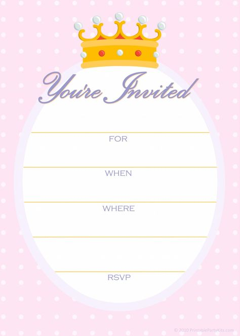 Free printable purple and pink Cinderella party invitation Party - best of invitation template princess