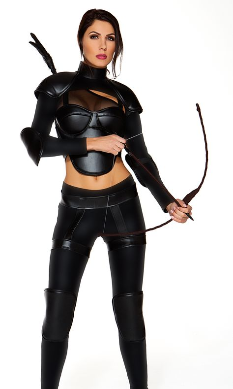 You'll be ready to handle any Kung-Fusing situation this Halloween when you suit up in this chic Not A Game sexy movie character costume. The dazzling mesh crop top and sleek, leg-hugging pants are enhanced by the matching bolero and armor accessories.