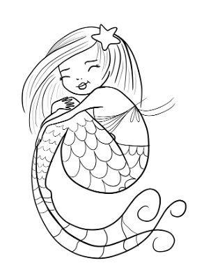 Disegni Di Sirene E Sirenette Da Stampare E Colorare Portale Bambini Disegni Da Colorare Disegno Di Luna Disegni