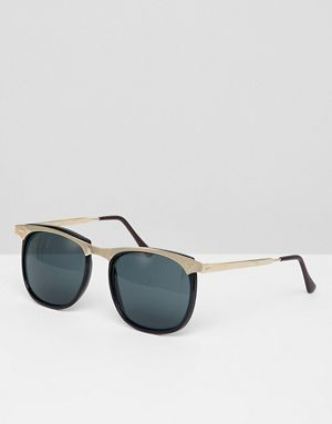 In Inspired Round To Vintage Sunglasses Black Exclusive Reclaimed deWxQCroB
