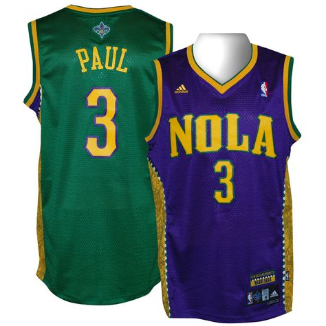 Chris Paul From New Orleans Hornets Mardi Gras Edition