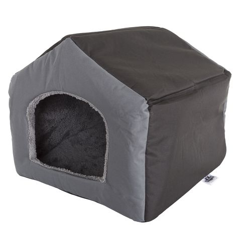 Cottage House Gray Pet Bed Small Pet Bed Grey Bedding Cozy Cottage