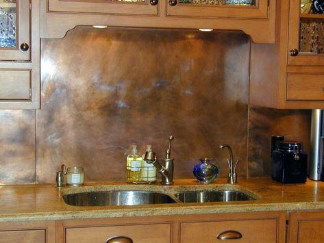Kitchen Backsplash Sheets Copper