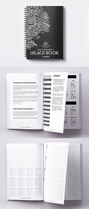 The guitar chord chart designs, layout, and organization of The ...