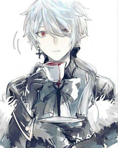 Anime Male White Hair Red Eyes Elf Demon White Hair Anime Guy Cute Anime Guys Vampire Boy