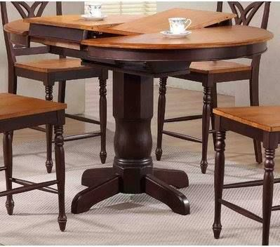 Round High Top Dining Table For 6 Counter Height Pub Table