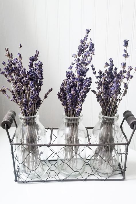 Lavender Home Decor- get a relaxing and soothing bathroom by using beautiful lavender in your bathroom decor. Bathroom Flowers, Yellow Bathroom Decor, Lavender Bathroom, Bathroom Wall Decor, Bath Decor, Lavender Decor, Lavender Walls, Dorm Room Crafts, Lavender Aesthetic