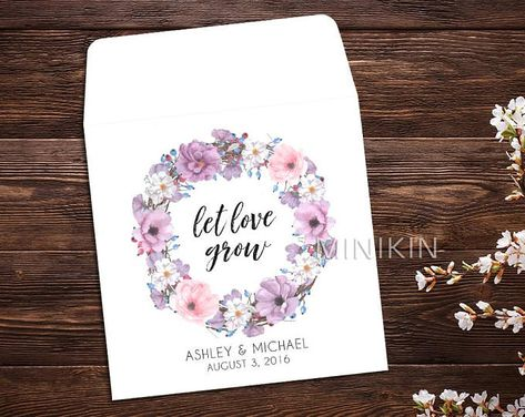 Seed Packet Favor, Let Love Grow, Spring Wedding, Wedding Favor, Watercolor, Seed Packet Envelopes, White Seed Packets, Wedding Favor x 25 #personalizedfavors #personalizedwedding #springwedding #flowerfavors #letlovegrow #weddingbudget #weddingideas #weddinggifts