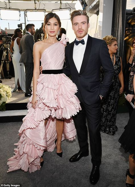 Just touched down in Tinsel Town: Pals Gemma Chan and Richard Madden attended the Screen Actors Guild Awards, held at Los Angeles' Shrin Auditorium on Sunday