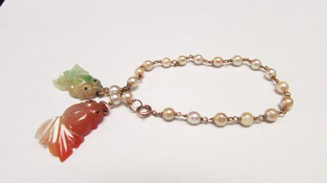 Vintage Estate 14K Gold  Pearl Linked with by Alohamemorabilia,