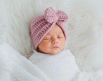 Baby shower gift Purple and white Baby Girl flower Headband Crochet headband Baby girl gift- Newborn Headband Purple baby headband