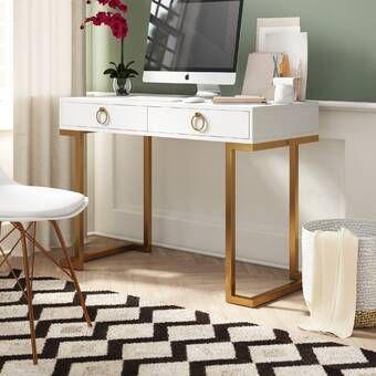 Writing Desk Wood Furniture, American Trails Art Deco Writing Desktop