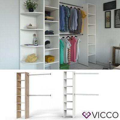 Vicco Kleiderschrank offen begehbar Regal Kleiderständer