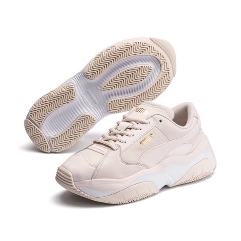 PUMA Storm.Y Leather Women's Trainers in Pastel Parchment