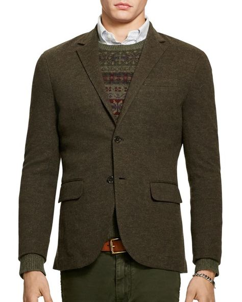 Polo Ralph Lauren Double Knit Cotton Wool Blazer Long Sleeve Blazers Sports Blazer