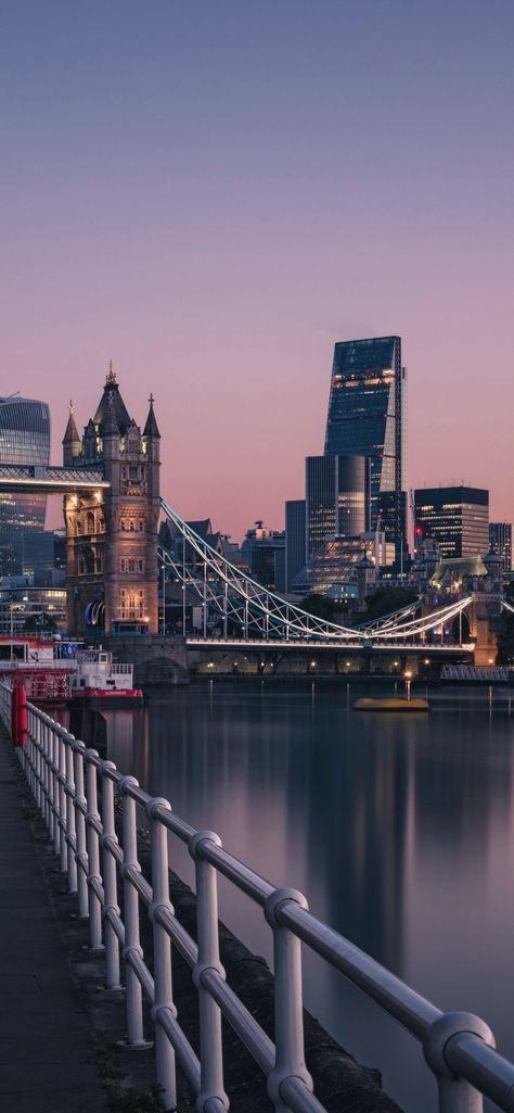 1242x2688 London England Tower Bridge Thames River Cityscape